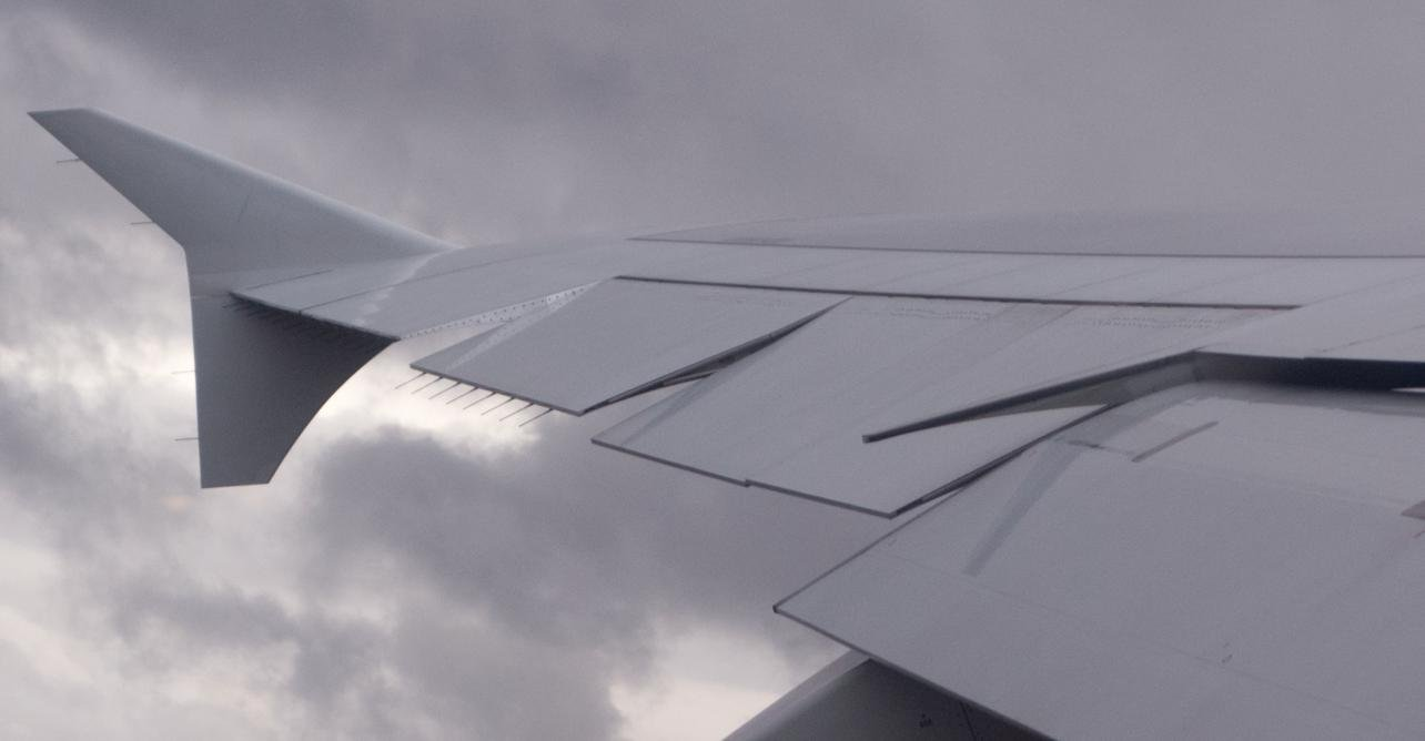 Multiple ailerons on an Airbus A380